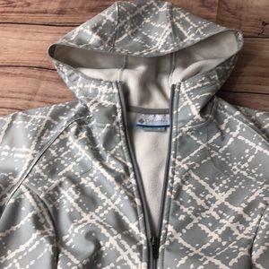 Columbia Jacket Women's Medium Gray White Grey